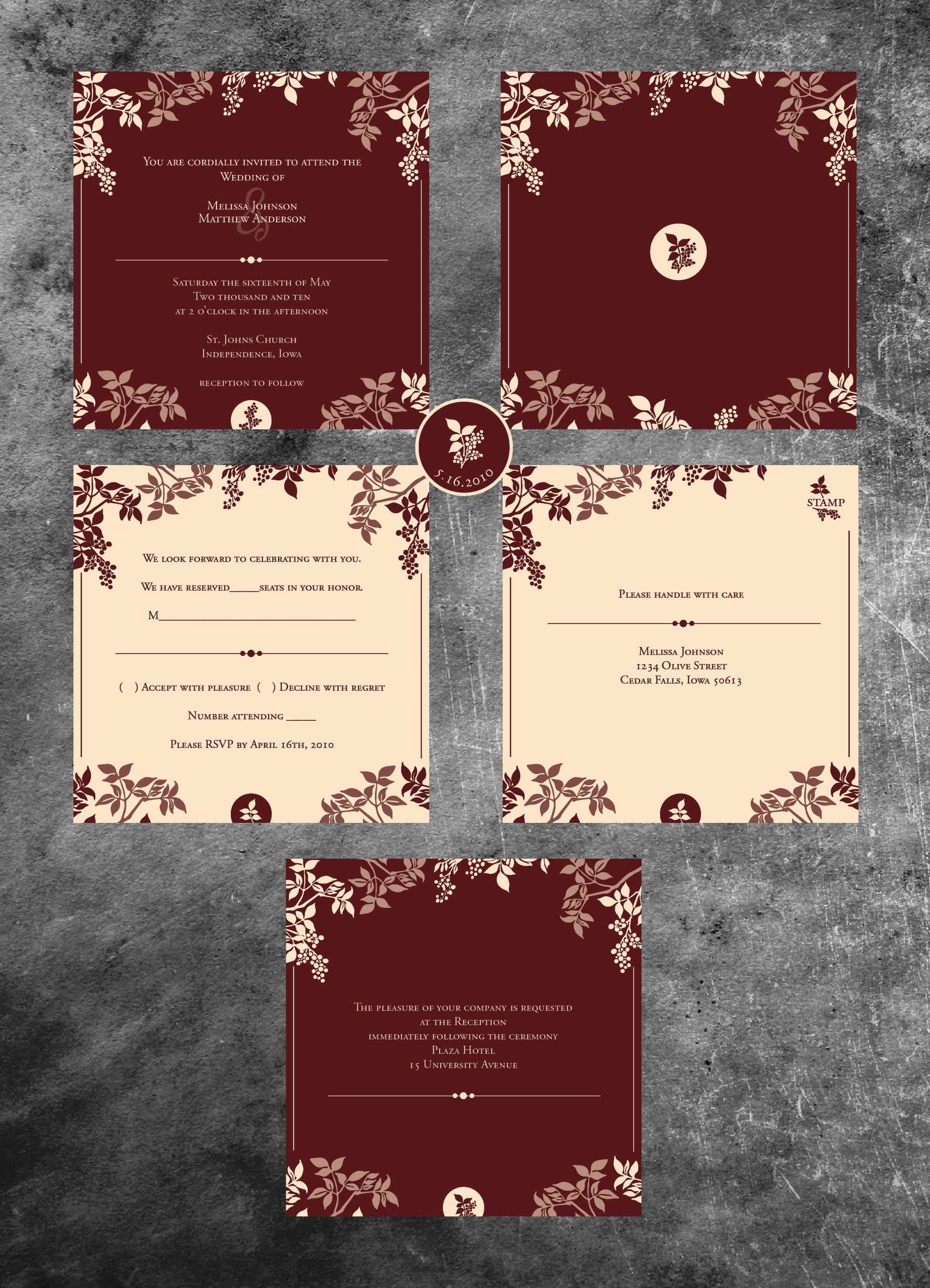 Fancy Wedding Invits Motif - Invitations and Announcements ...